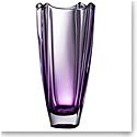 "Galway Amethyst Dune 12"" Square Vase"