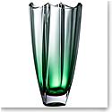 "Galway Emerald Dune 12"" Square Vase"
