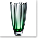 "Galway Emerald Dune 10"" Square Vase"