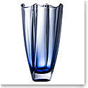 "Galway Sapphire Dune 12"" Square Vase"