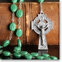 Cashs Ireland, St. Patrick Shamrock Rosary