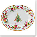 Royal Albert Old Country Roses 2018 Christmas Tree Medium Oval Platter