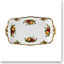"""Royal Albert Old Country Roses Sandwich Tray 11.8"""""""
