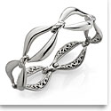 Nambe Jewelry Silver Braid Link Bracelet, Large