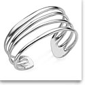 Nambe Jewelry Silver Multi Band Cuff Bracelet, Large