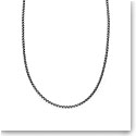 Nambe Men's Jewelry Sterling Silver 2.5mm Round Box Chain 24""