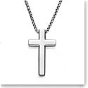 Nambe Men's Jewelry Beveled Cross Pendant
