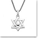 Nambe Men's Jewelry Star of David Pendant