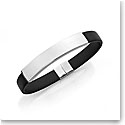Nambe Men's Jewelry Contour Rubber Bracelet