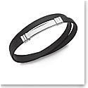 Nambe Men's Jewelry Wrap Around Rubber Bracelet