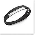 Nambe Men's Jewelry Wrap Around Rubber Bracelet