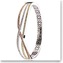Cashs Ireland, Pave Rose Gold, Gold and Sterling Silver Wave Hinged Bracelet