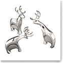 Nambe Christmas Blizten Reindeer, Set of 3