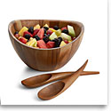 Nambe Wood Gourmet Harmony 3 Piece Salad Bowl Set