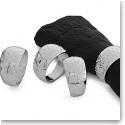 Nambe Metal Dazzle Napkin Rings, Set of 4