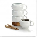 Nambe Wood Gourmet Bulbo Mug Stack, Set of Four