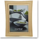 Nambe Metal Beaded Gold 5x7