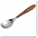 Nambe Curvo Metal and Wood Serving Spoon