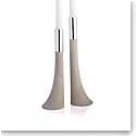 Nambe Metal Forte Candlestick, Pair