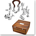 Nambe Metal 13-Piece Miniature Nativity Set with Free Storage Box