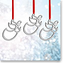 Nambe Mini Angel Ornament, Set of Three