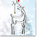Nambe Glass 2017 Reindeer Ornament