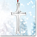 Nambe Glass Cross Ornament