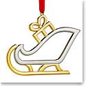 Nambe Santa's Sleigh Christmas Ornament