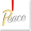 Nambe 2018 Peace Christmas Ornament