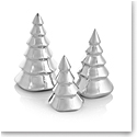 Nambe Mini Christmas Tree Set of Three