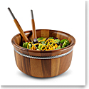 Nambe Braid Round Salad Bowl with Servers