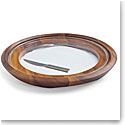 Nambe Cooper Wood Cheese Tray and Knife
