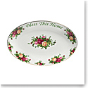 """Royal Albert Old Country Roses Bless This Home Platter 12"""""""