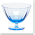 "Moser Crystal Optic Footed Bowl 5.1"" Aquamarine"