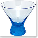 Moser Crystal Pebbles Stemless Martini Glass, Aquamarine, Single