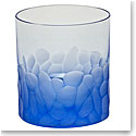 Moser Crystal Pebbles DOF Tumbler, Aquamarine, Single