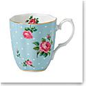 Royal Albert Polka Blue Vintage Mug