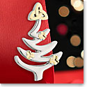 Cashs Ireland, Crystal Rhodium Christmas Tree Pin