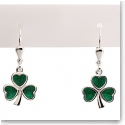 Cashs Ireland, Sterling Silver Shamrock Earrings Pair
