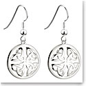 Cashs Sterling Silver Round Trinity Knot Pierced Earrings Pair