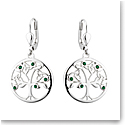 Cashs Ireland, Rhodium and Crystal Tree Of Life Earrings