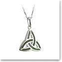 Cashs Ireland, Sterling Silver Connemara Marble Trinity Knot Pendant