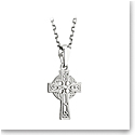 Cashs Ireland, Sterling Silver Filigree Celtic Cross Pendant
