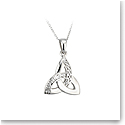 Cashs Ireland, Sterling Silver Celtic Trinity Knot Pendant
