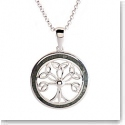 Cashs Ireland, Sterling Silver and Connemara Marble Tree of Life Pendant Necklace