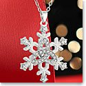 Cashs Ireland, Sterling Silver Snowflake Necklace