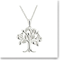 Cashs Ireland, Sterling Silver Crystal Set Tree of Life Pendant
