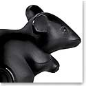 Lalique Crystal, Mouse Sculpture, Black