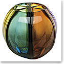 "Moser Crystal Ball Vase 11.8"" Multicolor"