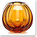 "Moser Crystal Beauty Vase 5.9"" Topaz"